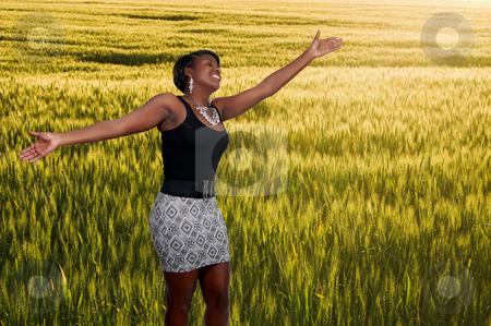 Black Woman in Winter Wheat Field
